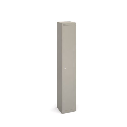 Bisley lockers with 1 door 305mm deep - grey