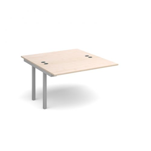 Connex add on units back to back 1200mm x 1600mm - silver frame and maple top