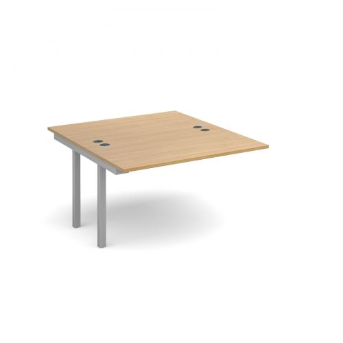 Connex add on units back to back 1200mm x 1600mm - silver frame and oak top