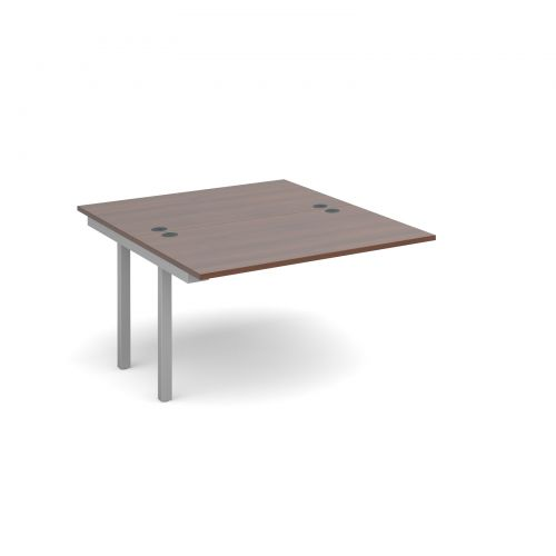 Connex add on units back to back 1200mm x 1600mm - silver frame and walnut top