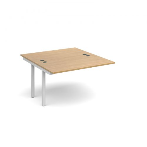 Connex add on units back to back 1200mm x 1600mm - white frame and oak top