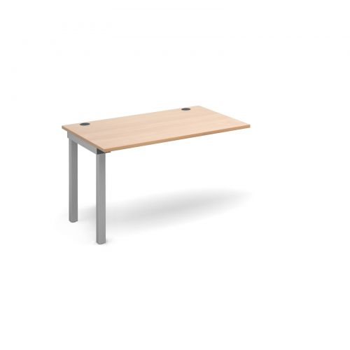 Connex add on unit single 1200mm x 800mm - silver frame and beech top
