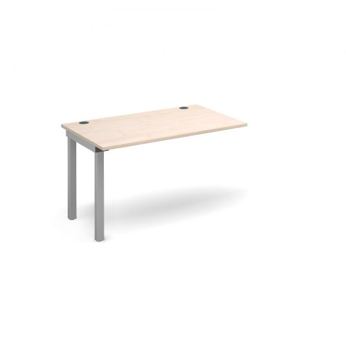 Connex add on unit single 1200mm x 800mm - silver frame and maple top