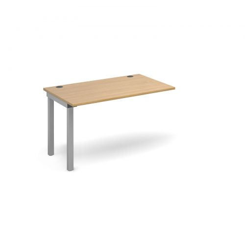 Connex add on unit single 1200mm x 800mm - silver frame and oak top