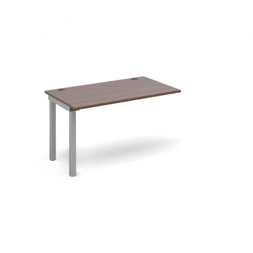 Connex add on unit single 1200mm x 800mm - silver frame and walnut top