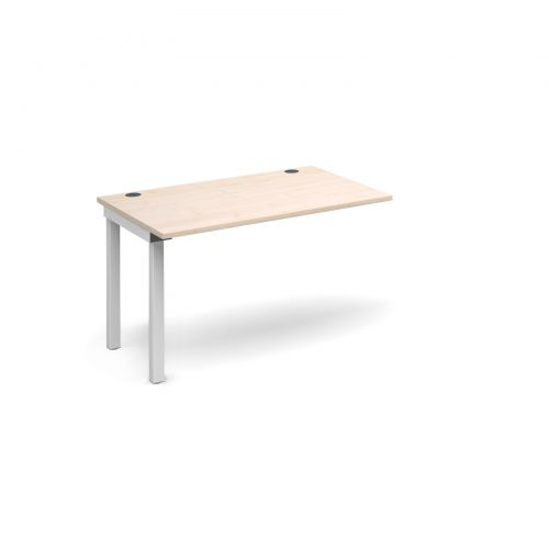 Connex add on unit single 1200mm x 800mm - white frame and maple top