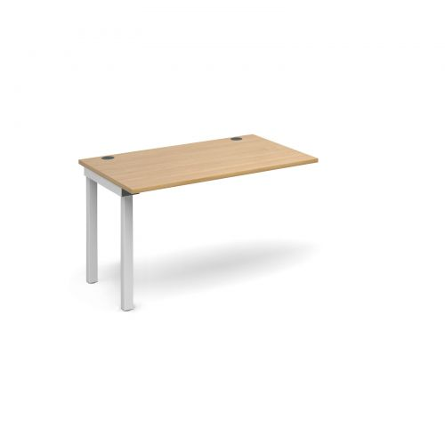 Connex add on unit single 1200mm x 800mm - white frame and oak top