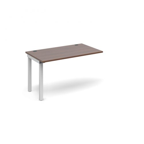 Connex add on unit single 1200mm x 800mm - white frame and walnut top