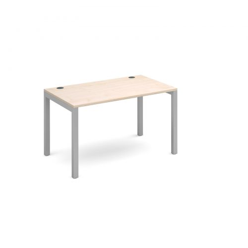 Connex single desk 1200mm x 800mm - silver frame and maple top
