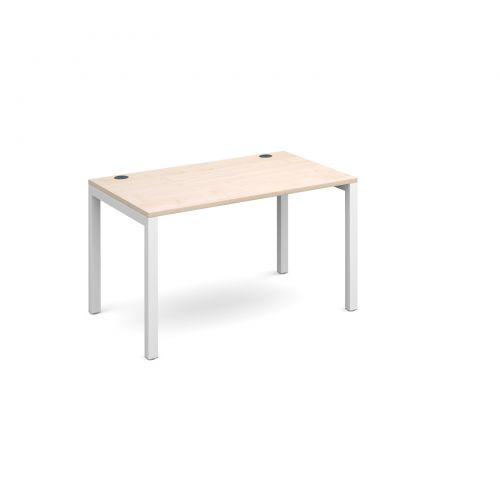 Connex starter unit single 1200mm x 800mm - white frame and maple top