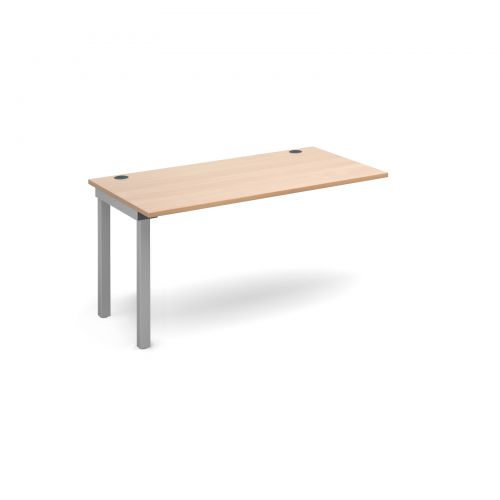 Connex add on unit single 1400mm x 800mm - silver frame and beech top