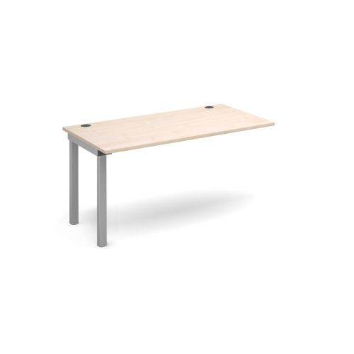 Connex add on unit single 1400mm x 800mm - silver frame and maple top