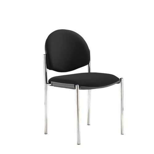 Coda multi purpose chair and no arms and black fabric