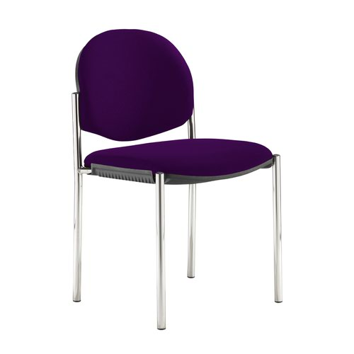 Coda multi purpose stackable conference chair with no arms - Tarot Purple