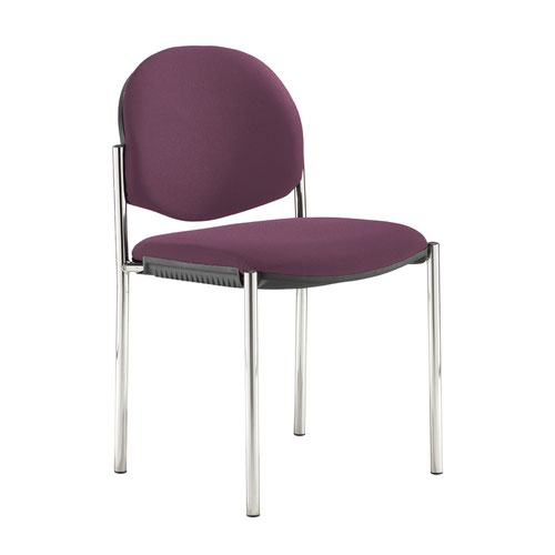 Coda multi purpose stackable conference chair with no arms - Bridgetown Purple