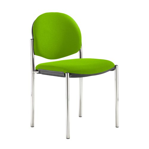 Coda multi purpose stackable conference chair with no arms - Madura Green