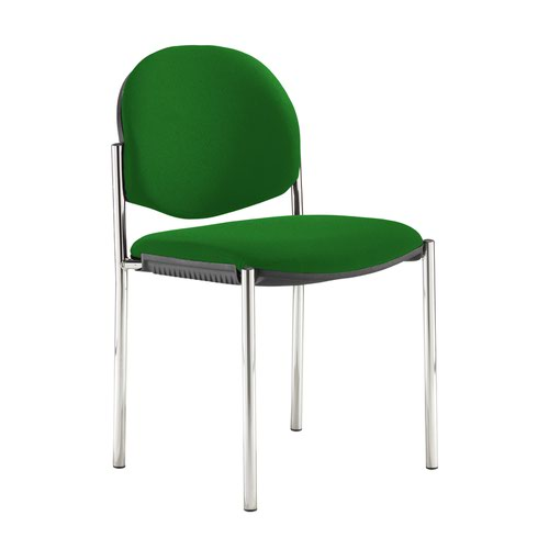 Coda multi purpose stackable conference chair with no arms - Lombok Green