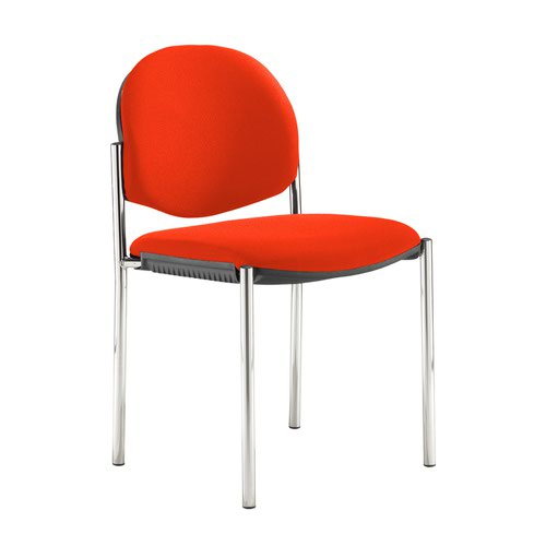 Coda multi purpose stackable conference chair with no arms - Tortuga Orange