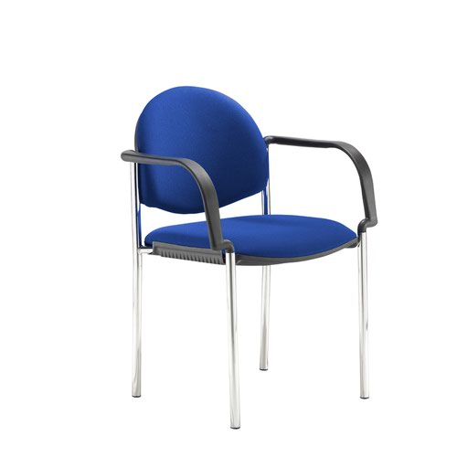 Coda multi purpose chair and with arms and blue fabric