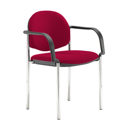 Coda multi purpose stackable conference chair with fixed arms - Diablo Pink