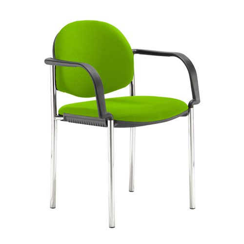 Coda multi purpose stackable conference chair with fixed arms - Madura Green