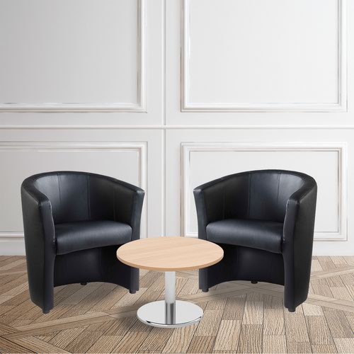 Bundle deal - 2 x London tub chairs with 600mm coffee table - beech