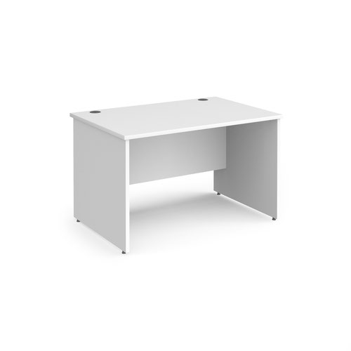 Contract 25 straight desk with panel leg 1200mm x 800mm - white