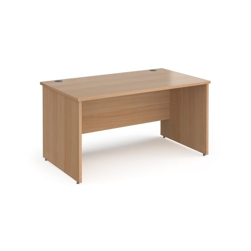 Contract 25 straight desk with panel leg 1400mm x 800mm - beech