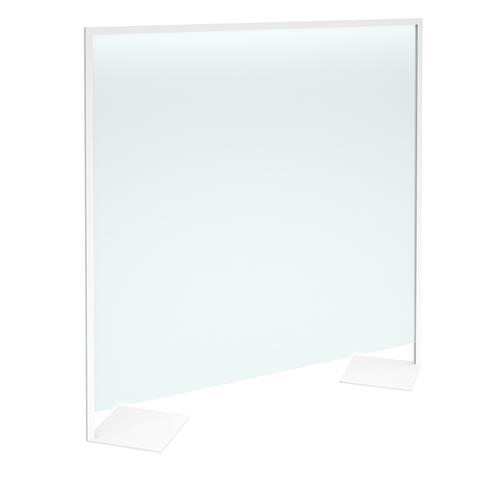Floor standing clear polyvinyl screen 2000mm high x 2000mm wide