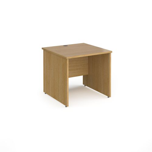 Contract 25 straight desk with panel leg 800mm x 800mm - oak