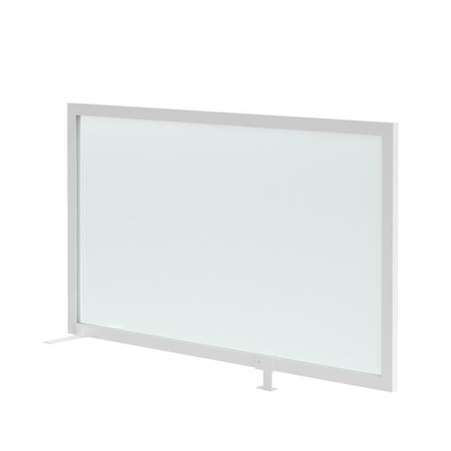 Clear polyvinyl desk mounted high return screen 1200mm with bracket