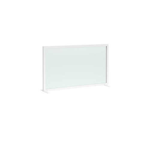 Clear polyvinyl free-standing high desktop screen 1200mm wide