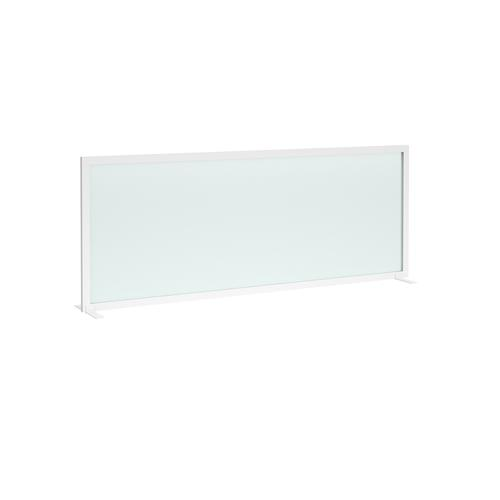 Clear polyvinyl free-standing high desktop screen 1800mm wide