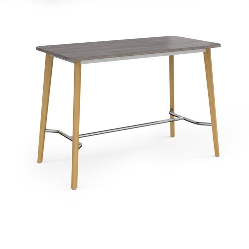 Como rectangular poseur table with 4 oak legs 1800mm x 800mm - grey oak