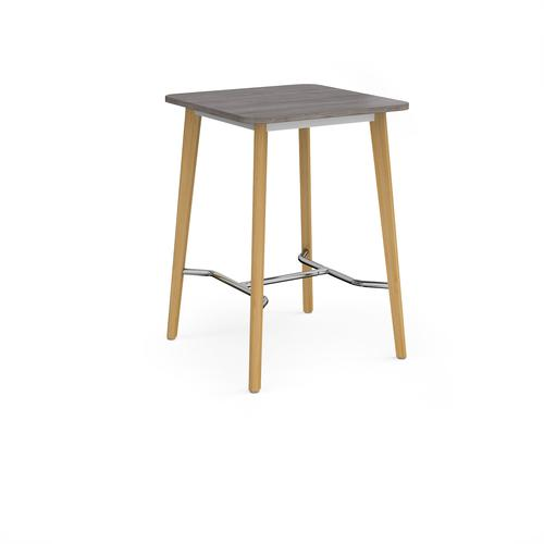 Como square poseur table with 4 oak legs 800mm - grey oak