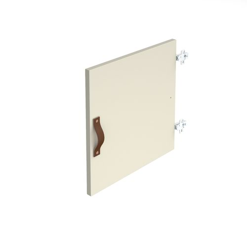 Storage unit insert - cupboard with leather strap handle - white