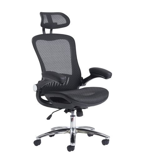 Napier mesh chair with mesh seat black