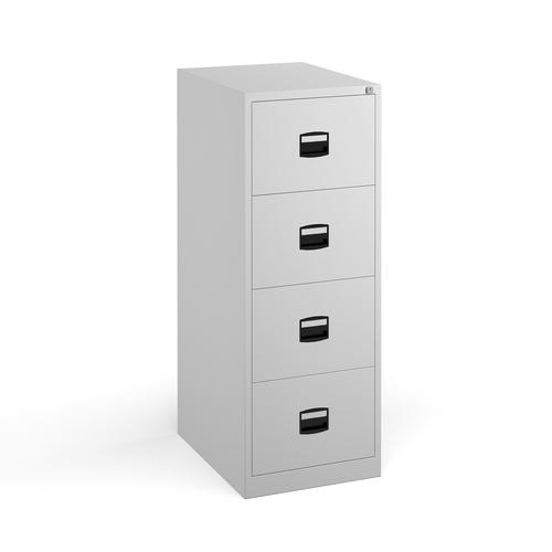 Steel 4 drawer contract filing cabinet 1321mm high - white