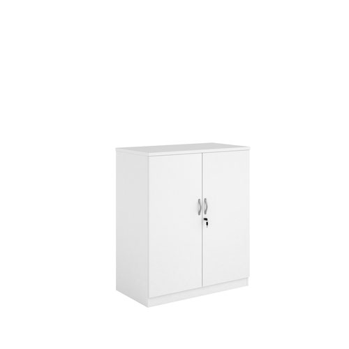 Systems double door cupboard 1200mm high - white