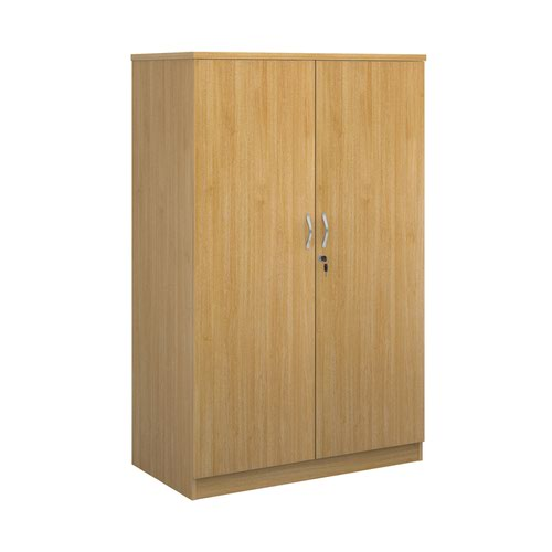 Systems double door cupboard 1600mm high - oak