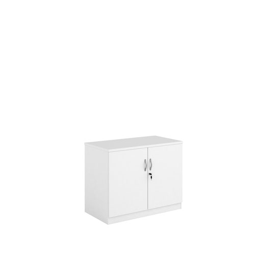 Systems double door cupboard 800mm high - white