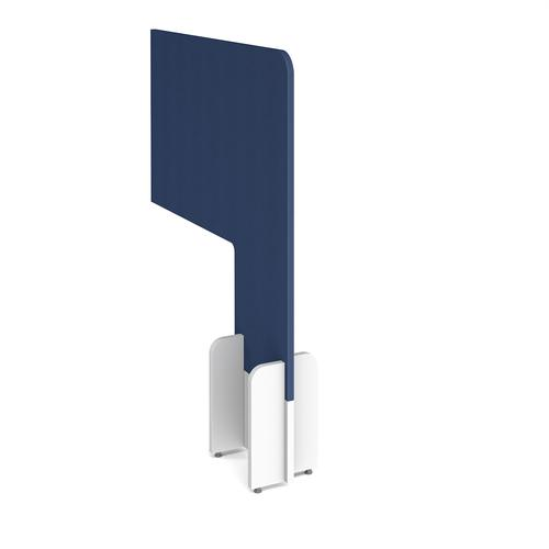 Desk division floor standing fabric screen - cluanie blue