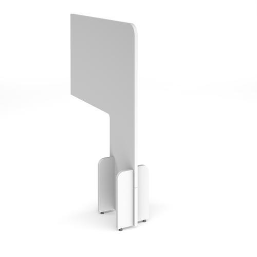Desk division floor standing mfc white screen