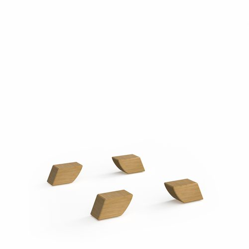 Universal cube storage unit feet - Giza wooden legs (pack of 4)