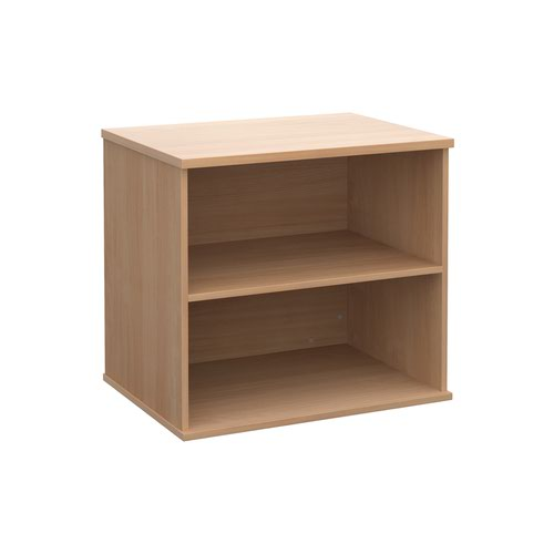 Deluxe desk high bookcase 600mm deep - beech