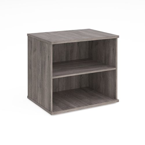 Deluxe desk high bookcase 600mm deep - grey oak