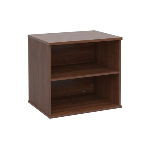 Deluxe desk high bookcase 600mm deep - walnut