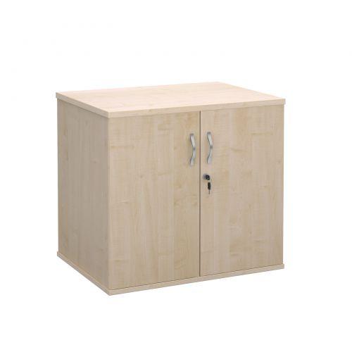 Deluxe Desk High Cupboard 2 Door 800x600x725mm Maple Finish DHCCM