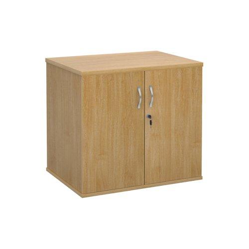 Deluxe Desk High Cupboard 2 Door 800x600x725mm Oak Finish DHCCO