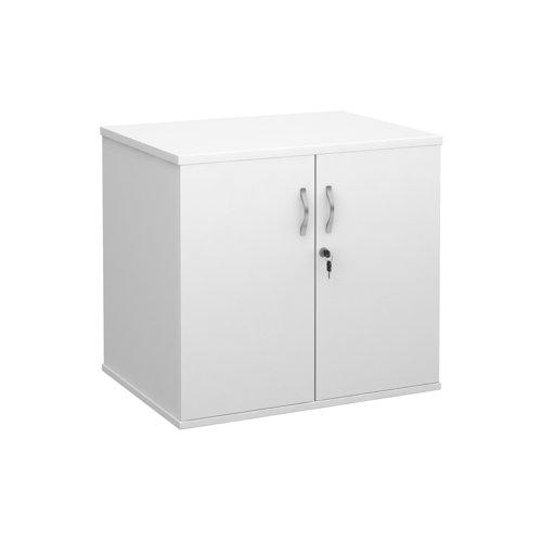 Deluxe Desk High Cupboard 2 Door 800x600x725mm White Finish DHCCWH